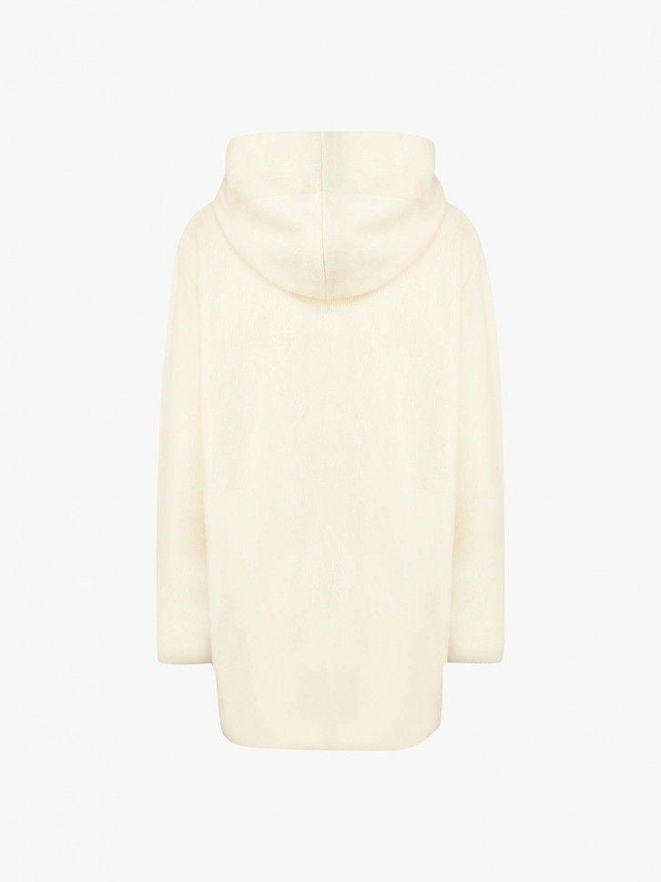 Casaco de Lã Comprido com Capuz