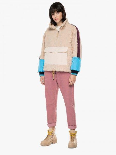 Sweatshirt em Efeito Pelo
