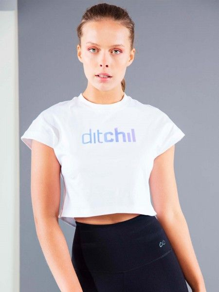 T-Shirt Desportiva Cropped