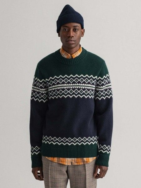 Camisola de Lã Color Block