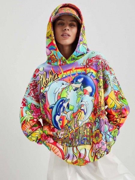 Sweatshirt Oversized com Capuz
