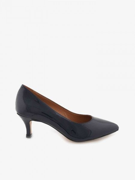 Sapatos de Salto Ato Efeito Verniz